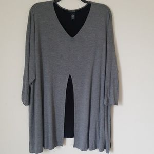 Catherines Any Wear Asymmetrical Tunic  Top